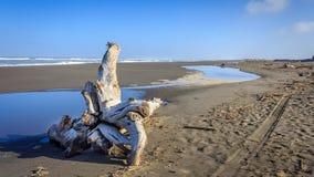 Opinión perdida de la playa de la costa fotos de archivo