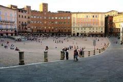 Opinión Piazza del Campo fotos de archivo libres de regalías