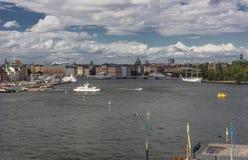 Opinión pintoresca de Estocolmo imagen de archivo libre de regalías
