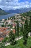 Opinión pintoresca del verano, Montenegro Foto de archivo libre de regalías