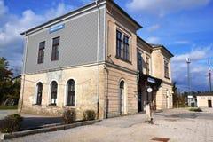 Opinión Pivka Postojna, región del pueblo de Prestranek Eslovenia de Ljubljana Notranjska imagenes de archivo