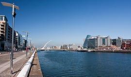 Opinión portuaria de Dublín fotografía de archivo libre de regalías