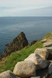 Opinión principal de Sunburgh, Shetland, Escocia Fotos de archivo