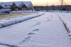 Opinión que ajardina de la nieve Fotos de archivo libres de regalías