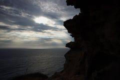 Opinión que sorprende sobre el mar y el cielo imagen de archivo