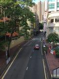 Opinión regular de las calles de Hong Kong fotografía de archivo libre de regalías