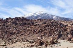 Opinión rocosa del parque nacional de Teide Foto de archivo libre de regalías