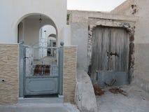 Opinión romántica de Santorini Imágenes de archivo libres de regalías