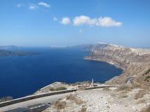 Opinión romántica de Santorini Fotos de archivo