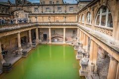 Opinión Roman Baths en baño en Inglaterra Foto de archivo