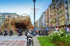 Opinión romana de las ruinas de Salónica Imagen de archivo libre de regalías