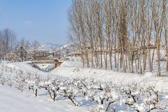Opinión rural del invierno Imagen de archivo libre de regalías