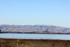 Opinión San Francisco Bay adyacente al puente de Dombarton, California Fotografía de archivo