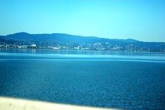 Opinión San Francisco Bay adyacente al puente de Dombarton, California Fotos de archivo