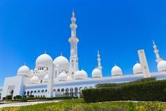 Opinión Sheikh Zayed Grand Mosque famoso, UAE Fotografía de archivo