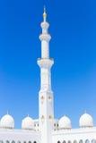 Opinión Sheikh Zayed Grand Mosque famoso, UAE Foto de archivo libre de regalías