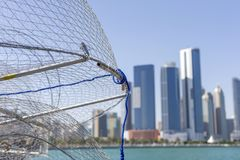 Opinión sobre Abu Dhabi del puerto pesquero Fotos de archivo libres de regalías