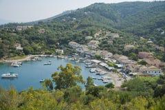 Opinión sobre Agios Stefanos Fotos de archivo libres de regalías