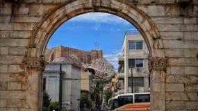 Opinión sobre Akropolis Foto de archivo