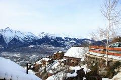 Opinión sobre Alpes suizo Imagen de archivo