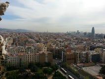 Opinión sobre Barcelona Fotos de archivo