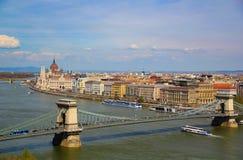 Opinión sobre Budapest Imagenes de archivo