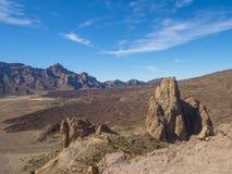 Opinión sobre catedral famosa de la formación de roca en Roques de García y Fotografía de archivo