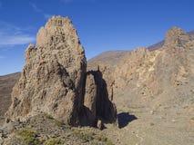 Opinión sobre catedral famosa de la formación de roca en Roques de García y Foto de archivo libre de regalías
