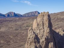 Opinión sobre catedral famosa de la formación de roca en Roques de García y Imagen de archivo libre de regalías