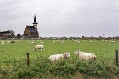 Opinión sobre Den Hoorn, poca comunidad en Texel, una isla de Wadden, los Países Bajos imagenes de archivo