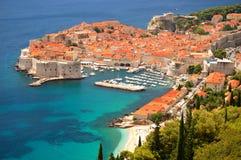 Opinión sobre Dubrovnik Imágenes de archivo libres de regalías