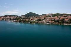 Opinión sobre Dubrovnik Foto de archivo