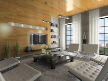 Opinión sobre el apartamento moderno Imagen de archivo libre de regalías