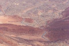 Opinión sobre el camino de la montaña del volcán de Teide Fotografía de archivo libre de regalías