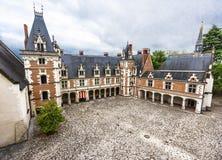 Opinión sobre el castillo de Blois foto de archivo libre de regalías