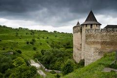 Opinión sobre el castillo de Khotyn Foto de archivo libre de regalías