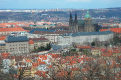 Opinión sobre el castillo de Praga Fotos de archivo