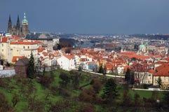 Opinión sobre el castillo de Praga Foto de archivo