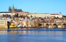 Opinión sobre el castillo de Praga Fotografía de archivo