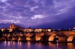 Opinión sobre el castillo de Praga Fotografía de archivo libre de regalías