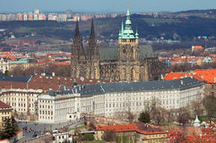 Opinión sobre el castillo de Praga, República Checa Fotos de archivo