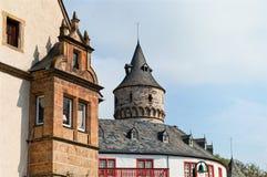 Opinión sobre el castillo medieval Oelber en Alemania Imagen de archivo