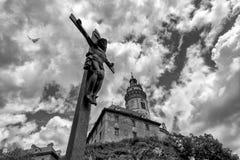 Opinión sobre el crucifijo Imagen de archivo libre de regalías
