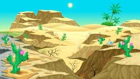 Opinión sobre el desierto ilustración del vector