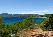 Opinión sobre el La Croix-Valmer de la playa Fotografía de archivo libre de regalías
