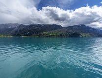 Opinión sobre el lago Brienz Foto de archivo