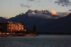 Opinión sobre el lago Ginebra Fotos de archivo libres de regalías