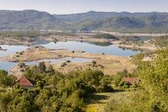 Opinión sobre el lago Slano - Montenegro Fotos de archivo