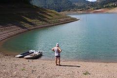 Opinión sobre el lago Zaovine, Tara Mountain, Serbia imagenes de archivo