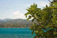 Opinión sobre el mar azul imágenes de archivo libres de regalías